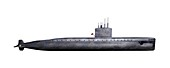 First nuclear submarine Nautilus,artwork