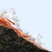 Pyroclastic flow,artwork