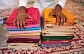 Sari weaving,India