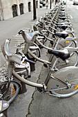 Velib rental bicycles,Paris