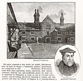 Whitgift's almshouses,19th century