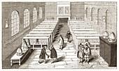 Public reading room,17th century