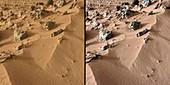 Rocknest site,Mars,Curiosity images