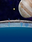 Europa's ocean,artwork