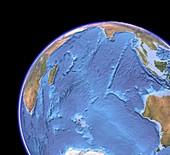 Indian Ocean,sea floor topography