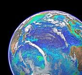 Indian Ocean,chlorophyll and bathymetry