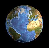 Atlantic Ocean,sea floor topography