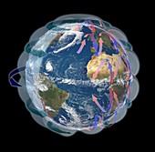 Global winds,satellite-based diagram
