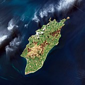 Isle of Man,satellite image