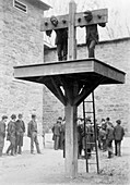Pillory and whipping post,1880s
