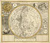 Celestial planisphere,1700