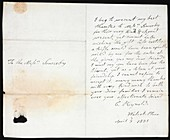Sowerby family letter,19th century
