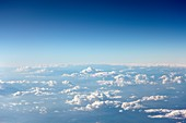 Clouds from high-altitude aircraft