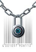 Data security,conceptual artwork
