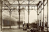 Open colonnade at Crystal Palace,1850s