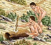 Palaeolithic drumming,artwork
