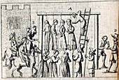 Hanging of witches,17th century