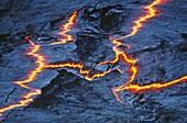 Lava lake volcanic fissures,Ethiopia