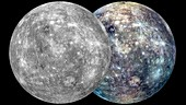 Mercury hemispheres,MESSENGER images