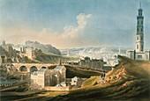 Edinburgh cityscape,1810