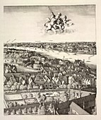 Hollar's panorama of London,1647