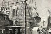Steamship Rome,Royal Albert Dock,1866