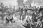 Ducking punishment,historical artwork