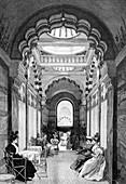 Austrian royal bathhouse,1890s