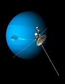 Voyager 2 and Neptune,artwork