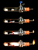 Magnesium-steam reaction sequence
