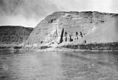 Abu Simbel temple,Egypt,19th century