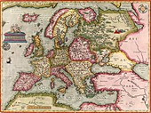 Ortelius's map of Europe,1603
