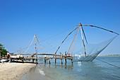 Coastal fishing net in India