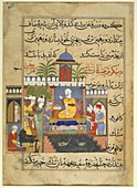 Presentation at the court of a king