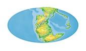 Triassic world map,artwork