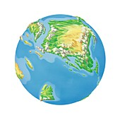 Cretaceous Asia,Earth globe
