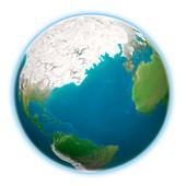 Earth and peak glaciation,artwork