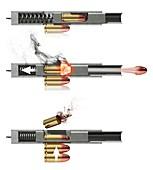 Pistol firing mechanism,artwork