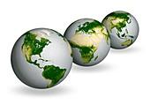 Earth vegetation globes,artworks