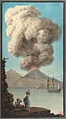 Mt. Vesuvius' morning eruption