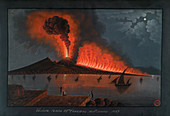 Eruption of Mt. Vesuvius,1737