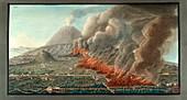Eruption of Mt. Vesuvius,1761