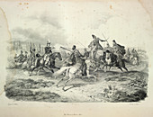 Cavalry fight