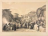 The bazaar at Caubul