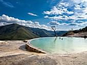 Geothermal pool,Hierve el Agua,Mexico