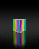 Prism refracting white light