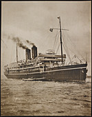 A passenger steamer. The S.S. Morea