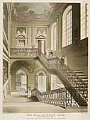 The hall and stair case,British Museum