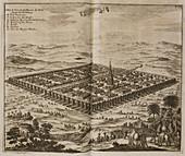 The city of Babylon. 17th illustration