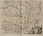 Map of Basra (Al Basrah) in the 17th cent